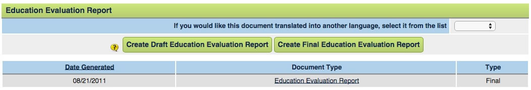 Create the Evaluation Report